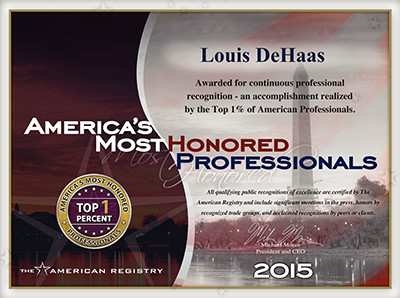 The American Registry America's Most Honored Professionals Top 1%